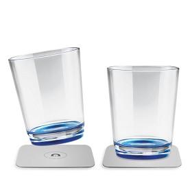 Bild på Magnetiska dricksglas i plast Silwy, 2-pack Blå
