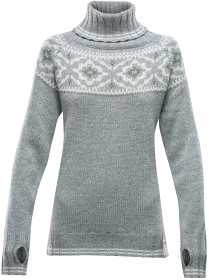 Bild på Devold Ona Round Sweater Woman Merino Grey Melange