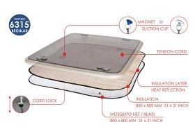 Bild på Fukt / värme isolering för luckor – stor