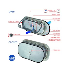 Bild på Gardin med ventialtion för portlight – liten (2-pack)