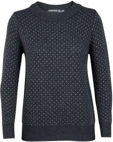 Bild på Icebreaker W's Waypoint Crewe Sweater Charcoal Hthr/Steel Hthr