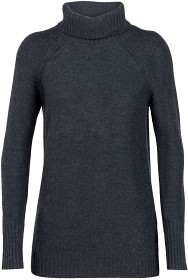 Bild på Icebreaker W's Waypoint Roll Neck Sweater Charcoal Hthr (2018)