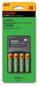 Bild på Kodak batteriladdare + laddningsbara batterier