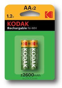 Bild på Kodak laddningsbara batterier AA, 2 st