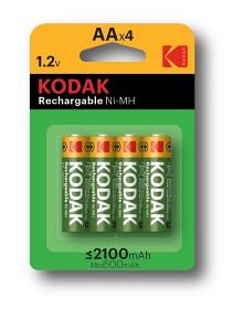 Bild på Kodak laddningsbara batterier AA, 4 st