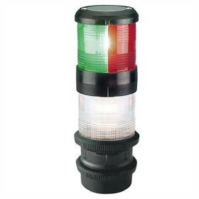 Bild på Lanterna Aqua Signal 40 3-färg med strobe 24 volt Svart