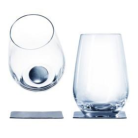 Bild på Magnetiska dricksglas i kristall Silwy, 2-pack 40 cl