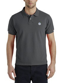 Bild på North Sails Polo S/S With Patch - Dark Grey