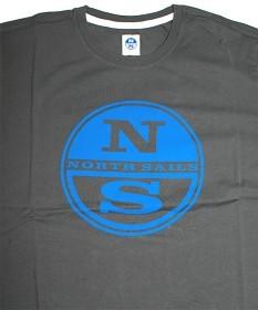 Bild på North Sails T-Shirt S/S Logo Print - Dark Grey