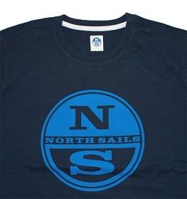 Bild på North Sails T-Shirt S/S Logo Print - Marine Blue