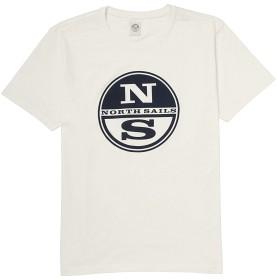 Bild på North Sails T-Shirt S/S Logo Print - Off White