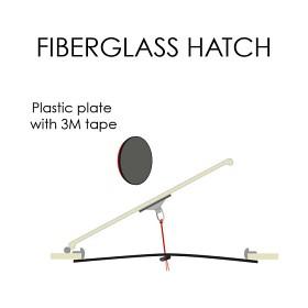 Bild på Självhäftande platta för glasfiberlucka