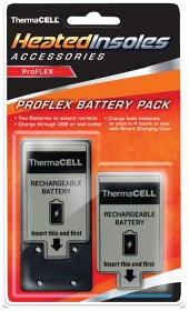 Bild på Thermacell Heated Insoles Nordic FLEX Extra batteripack