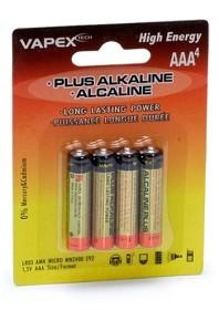 Bild på Vapex Tech Plus Alkaline batteries AAA (Pk 4)