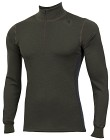 Aclima WarmWool Mock Neck Shirt Man Olive Night/Marengo