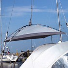 Blue Performance Sunshade Free Hanging L
