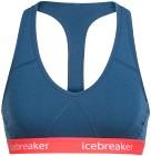 Icebreaker W's Sprite Racerback Bra Prussian Blue/Poppy Red