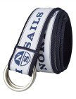 North Sails D-ring Belt - White/Royal