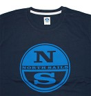 North Sails T-Shirt S/S Logo Print - Marine Blue