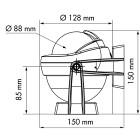 Plastimo Kompass Offshore 95 bygel svart svart konisk ros
