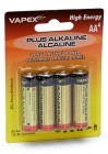Vapex Tech Plus Alkaline batteries AA (Pk 4)